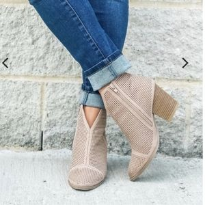 New in box nude bootie